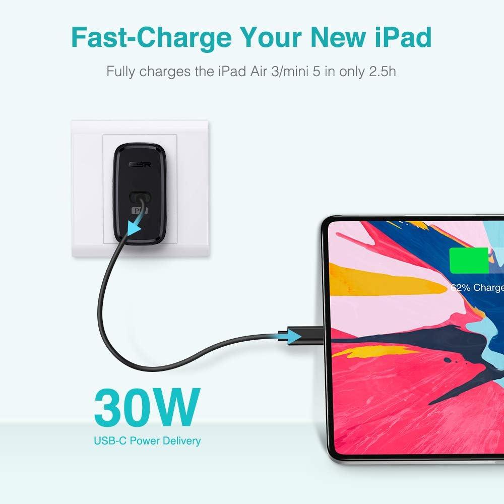 36W Cargador de Red Carga R/ápida para iPad Pro 2020//2018 Huawei Mate 30 Samsung S20 RAMPOW Cargador Pared con USB C Power Delivery 3.0 y USB QC 3.0 iPhone 11//11 Pro//XS//XS MAX//X//XR Xiaomi y m/ás