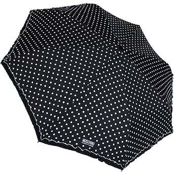 Moschino - Paraguas, diseño de lunares, color negro