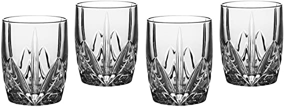 Marquis by Waterford 151681 Brookside 12-Ounce Double Old Fashion Glasses Set of 4
