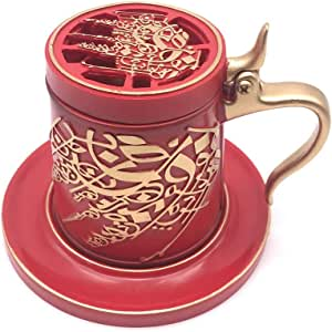 Mug Shaped Censer Red