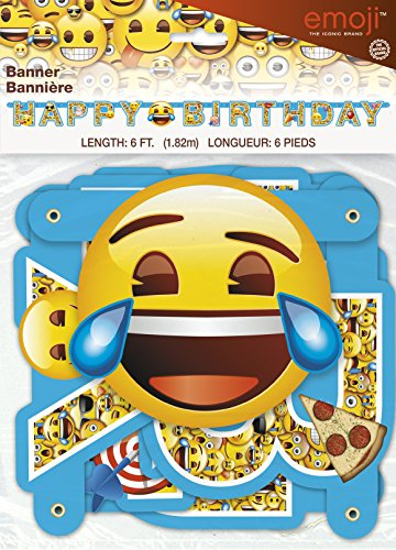 Unique 6ft Emoji Birthday Banner