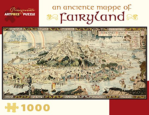 an Anciente Mappe of Fairyland 1000 Piece Jigsaw Puzzle 32 x 16in