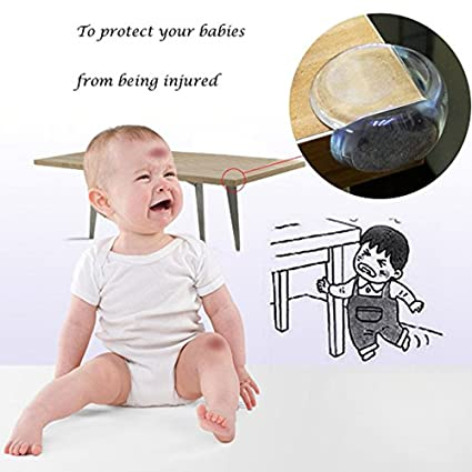 Corner Protectors for Baby Safety from Table Corners High Resistant Furniture Corner Bumper 12-Pack Impact Absorbent Corner Guards Cabinet Corner Cushion for Childproof SIENON-Clear Edge Bumpers