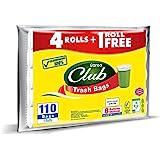 Sanita Trash Bags Club, 8 Gallons, 110 Bags, OXO Biodegradable