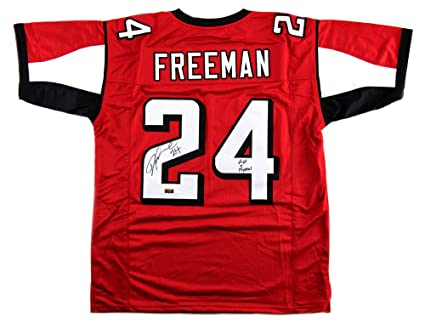 huge selection of df72e e9194 Devonta Freeman Autographed/Signed Atlanta Red Custom Jersey ...