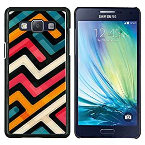 YiPhone /// Prima de resorte delgada de la cubierta del caso de Shell Armor - Resumen Funky Modern Azul Naranja Blanco - Samsung Galaxy A5 A5000