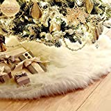 THEE White Christmas Tree Plush Skirt Holiday Ornaments Decoration
