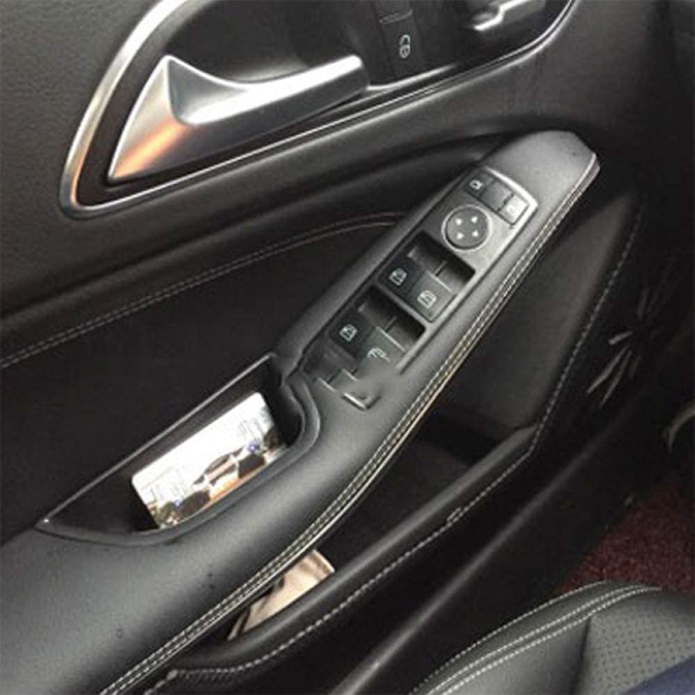 linfei Botte Portaoggetti per Mercedes Benz Classe E W212 Porta Maniglie Contenitore Portaoggetti Scatola Portaoggetti 2009-2015 4 Pezzi
