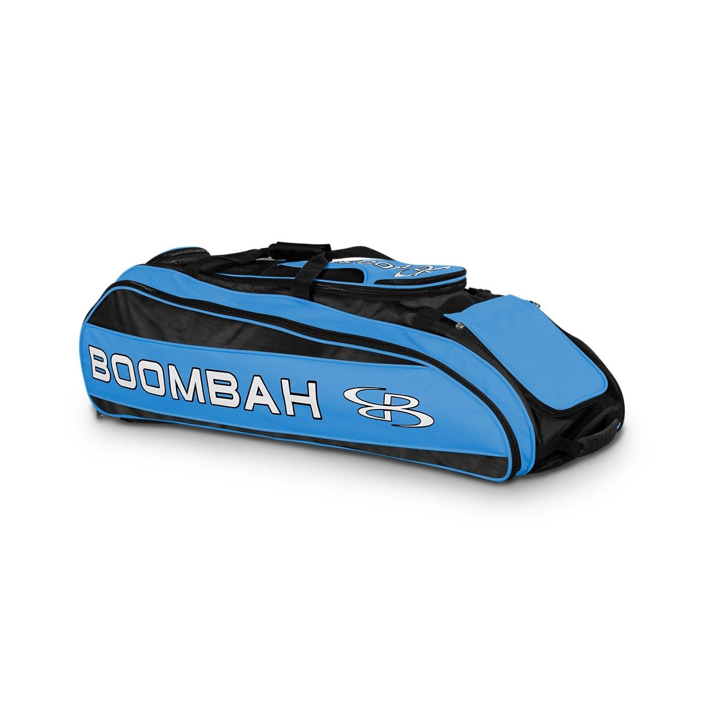 Boombah Beast Baseball/Softball Bat Bag - 40'' x 14'' x 13'' - Black/Columbia Blue - Holds 8 Bats, Glove & Shoe Compartments by Boombah (Image #1)