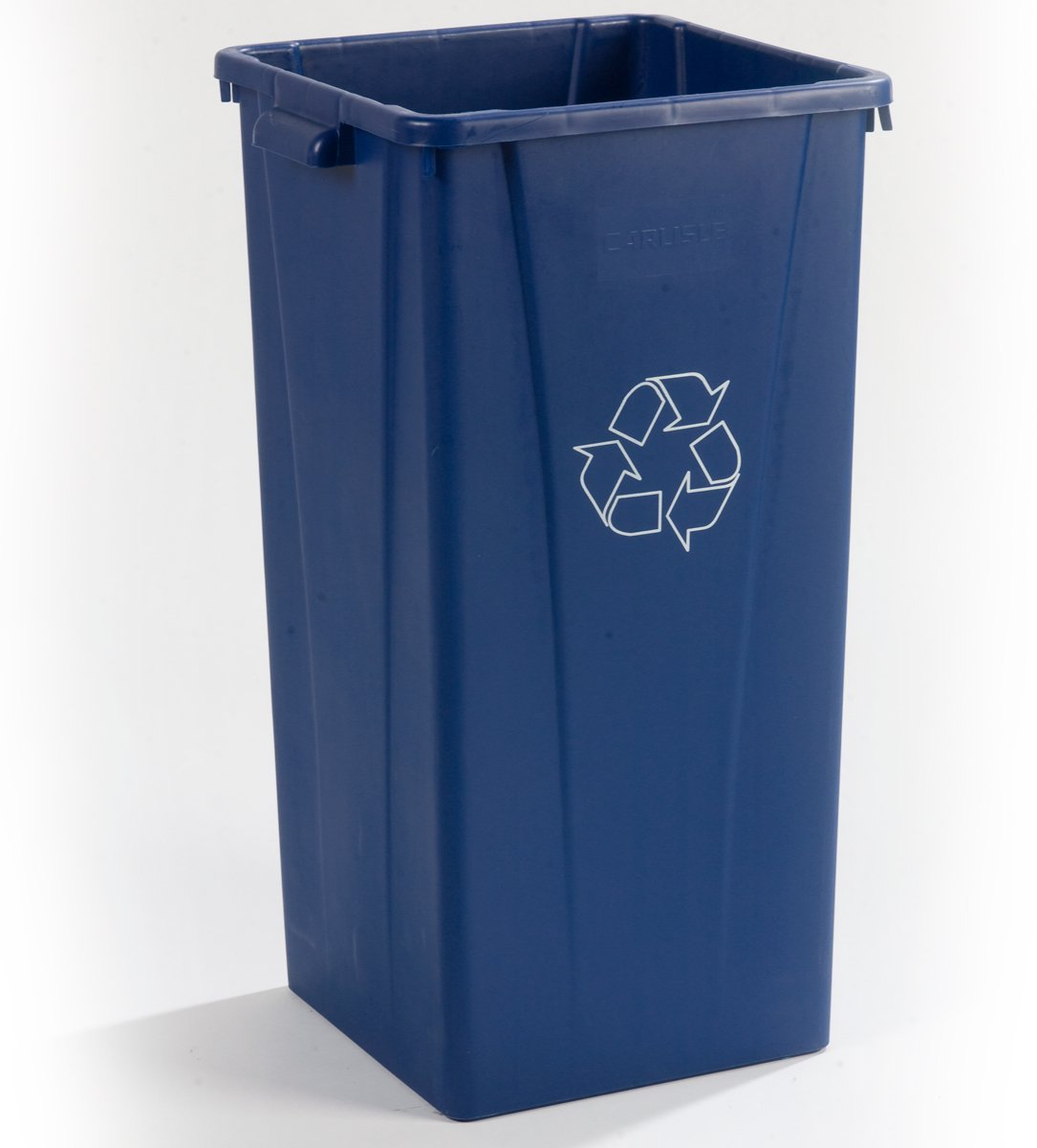 Carlisle 343523REC14 Centurian LLDPE Tall Square Recycle Waste Container, 23-gal. Capacity, 15.29 x 16.22 x 28'', Blue (Case of 4) by Carlisle