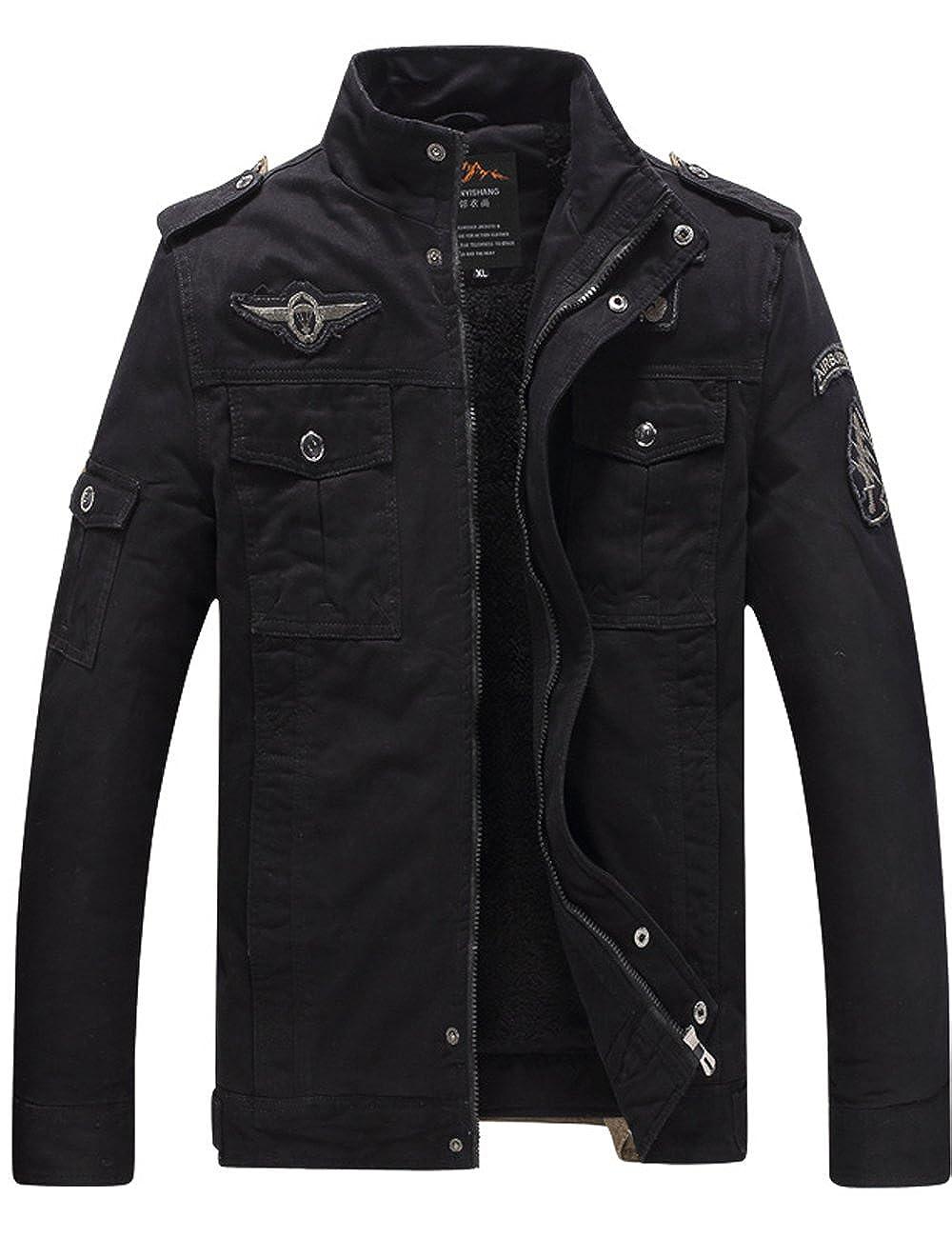 Menschwear Hombre Chaquetas con Forro De Lana para Winter Warm Outwear CN-FJBR-8333