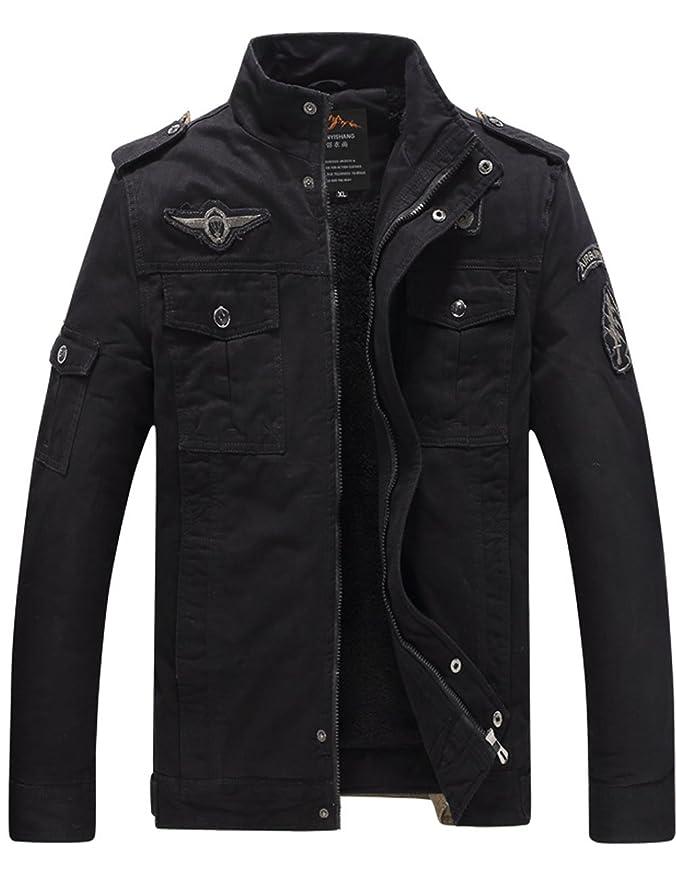 2 opinioni per Menschwear Uomo Jacket foderato di pile (XXS,Nero)
