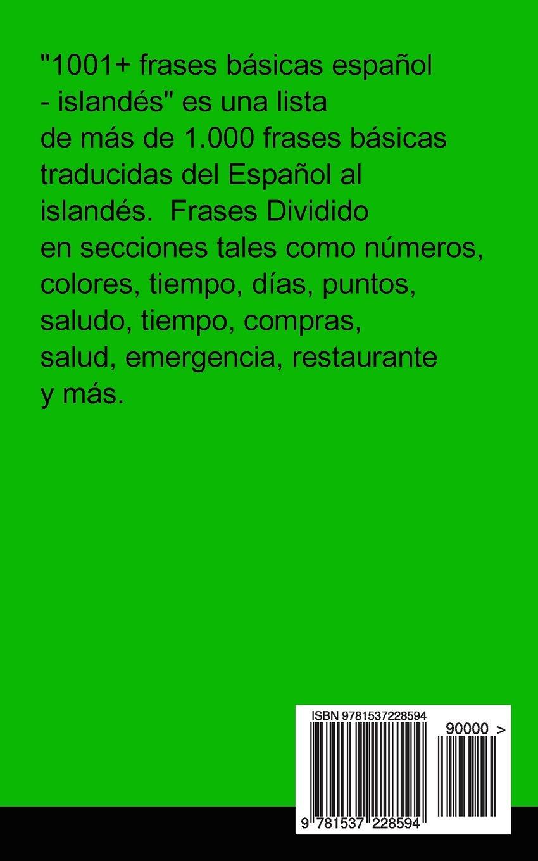 1001 Frases Básicas Español Islandés Spanish Edition