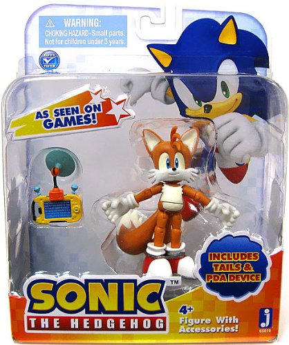 Sonic 3 Action Figure With Accessories Set Tails & Pda Device