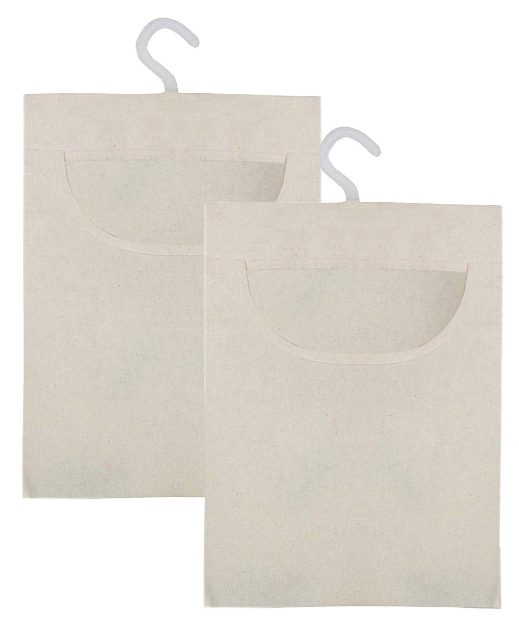 2 Pack Hanging Clothespin Bag Set 10 x 15-100/% Natural Cotton Canvas Cotton Craft