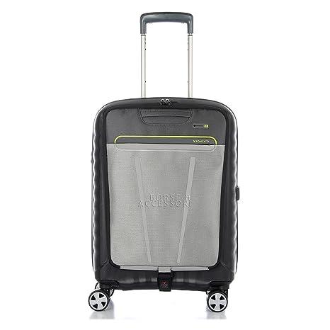 7165870637 Trolley Cabina Roncato Double rigido nero viaggio lavoro 5145 Nero Lime  porta pc tablet 4 ruote