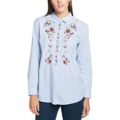 19be4699c0a Tommy Hilfiger Women s Cotton Embroidered Shirt at Amazon Women s ...