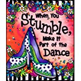 Blue Mountain Arts When You Stumble Make it Part of the Dance by Suzy Toronto Little Keepsake Book (KB250)