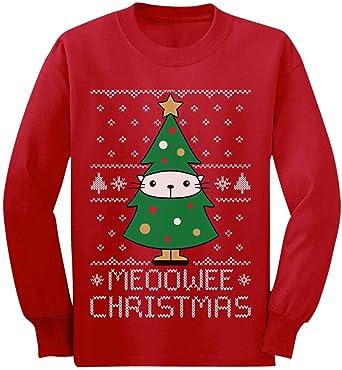 Camiseta de Manga Larga para niños - - Meoowee Christmas ...