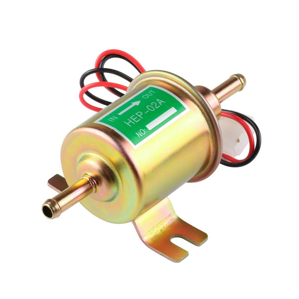 EDTara Fuel Pump,Gas Diesel Fuel Pump Inline Low Pressure Electric,12V/24V