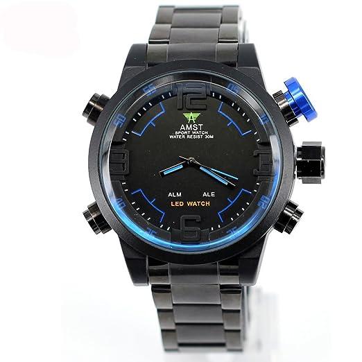 AMST Reloj de buceo LED de los hombres de lujo del reloj de la marca del ...