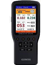 IGERESS Monitor de calidad del aire interior Detector Prueba precisa de formaldehído (HCHO) TVOC PM2.5 / PM1.0 / PM10 Prueba de contaminación de la calidad del aire