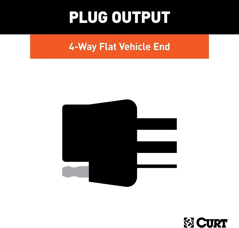Seltos CURT 56442 Vehicle-Side Custom 4-Pin Trailer Wiring Harness Kia Sedona Select Hyundai Entourage