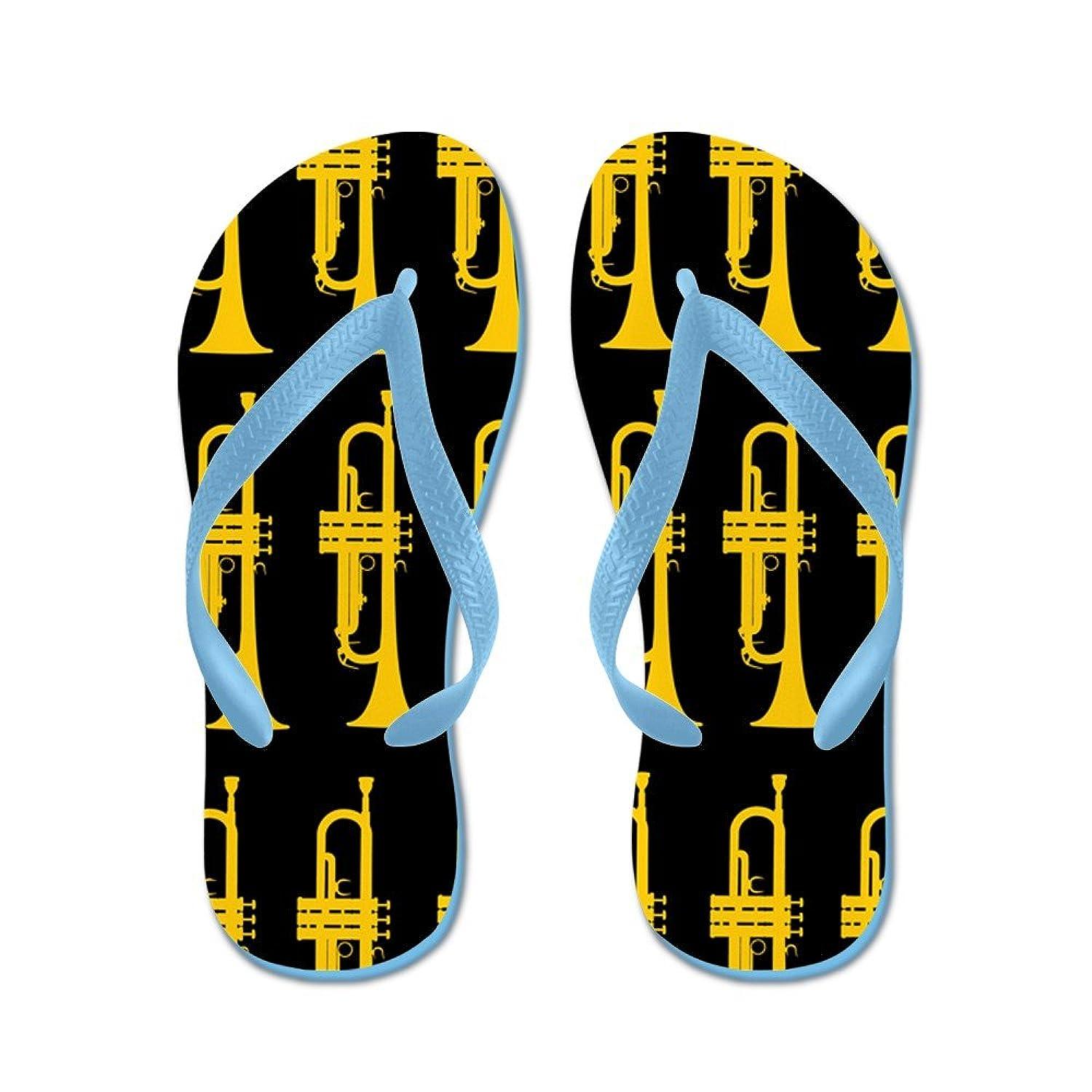 cfee534b85f7 CafePress - Trumpet - Flip Flops