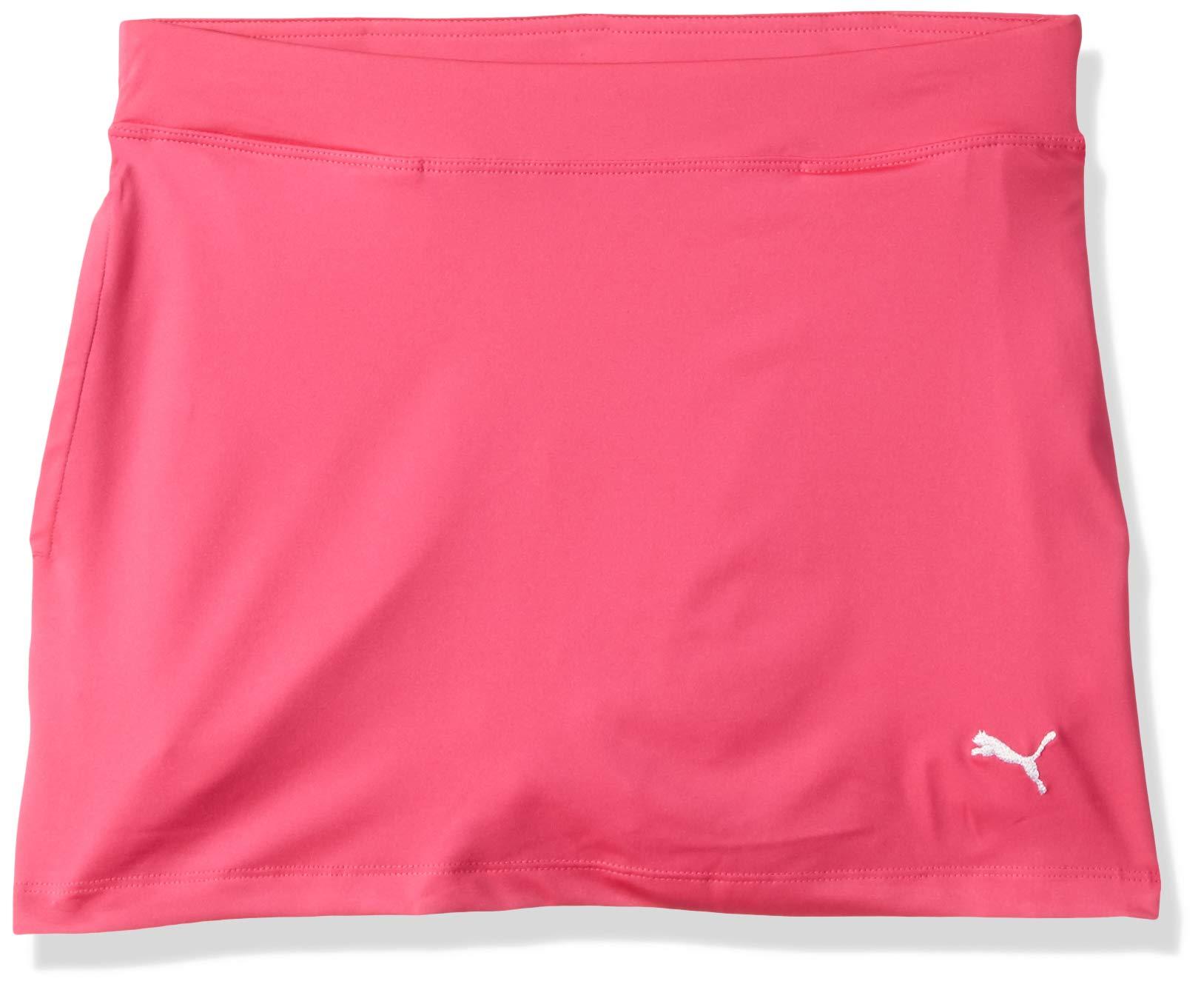 Puma Golf Girls 2019 Solid Knit Skirt, Fuchsia Purple, x Small by PUMA