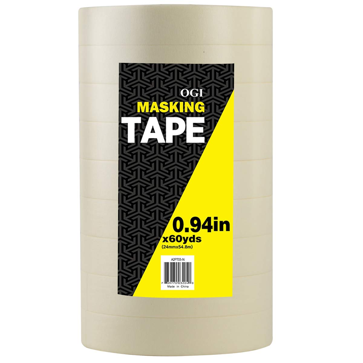 0.94-Inch by 60-Yard OGI General Purpose Masking Tape for Production Painting 9-Pack