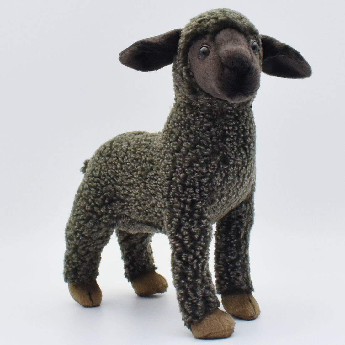 Amazon Com Hansa Kid Sheep Plush Black Toys Games