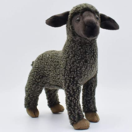 Amazon Com Hansa Kid Sheep Plush Black Toys Games