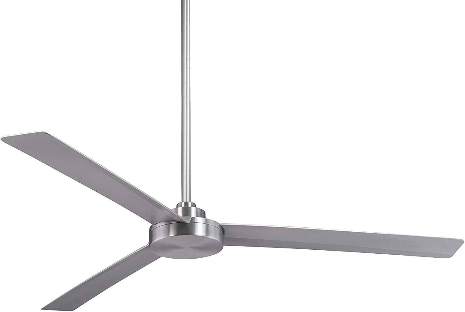 "Minka Aire F624-ABD Roto XL, 62"" 3-Blades Ceiling Fan in Brushed Aluminum Finish with Silver Blades"