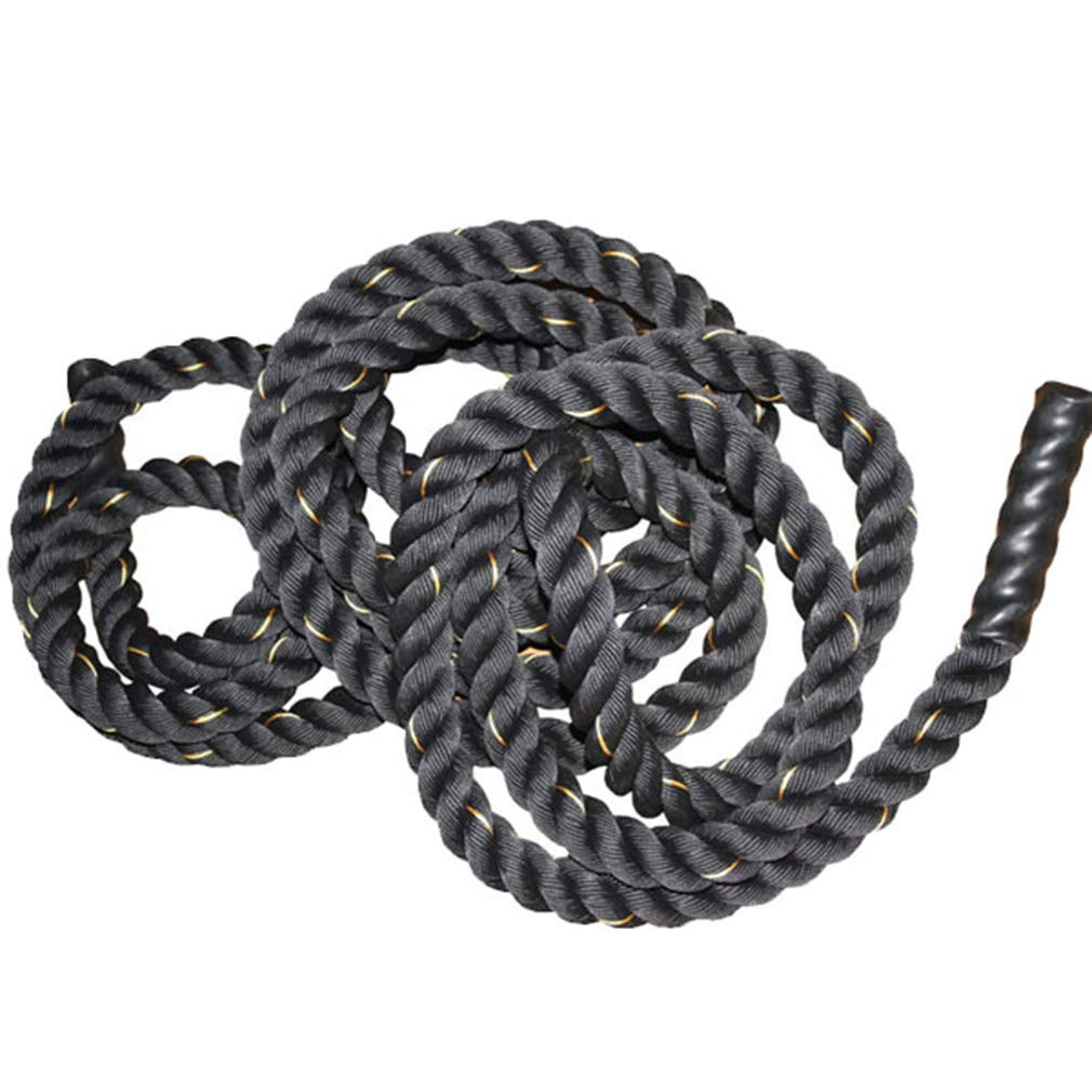 UFC Fitness Training Rope Polyester Fighting Rope Fitness Thick Rope Muscle Big Reins Power Rope Battle Rope 9m, 12m, 15m (Color : Diameter 50cm, Size : 15m) by BAI-Fine (Image #2)