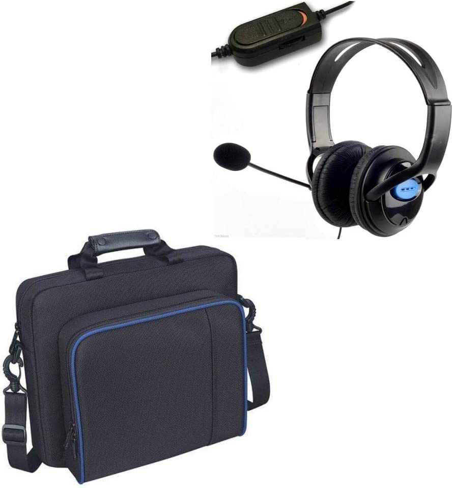 Kabalo - Estuche para consola y audífono, bolsa de transporte, acolchada protectora, para el hombro para la PlayStation 4 PS4: Amazon.es: Videojuegos