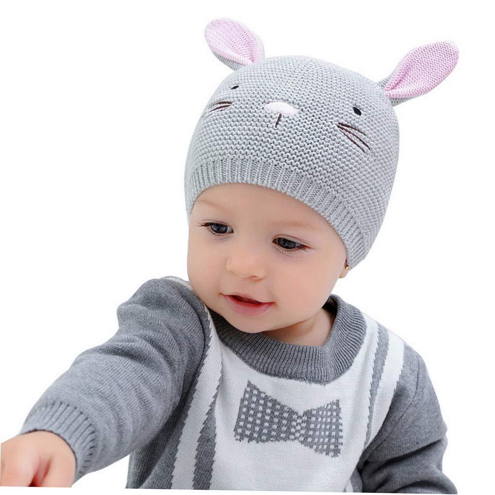 ACMEDE Cappello Bambino Invernale Orecchie Cappello da Neonato Unisex Berretto a Cuffia Invernale Berretto Bimbo autunno