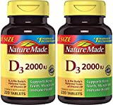 Nature Made Vitamin D3 2000 IU, Value Size 2 Pack (220 Each) Ous1F Nature-Gq
