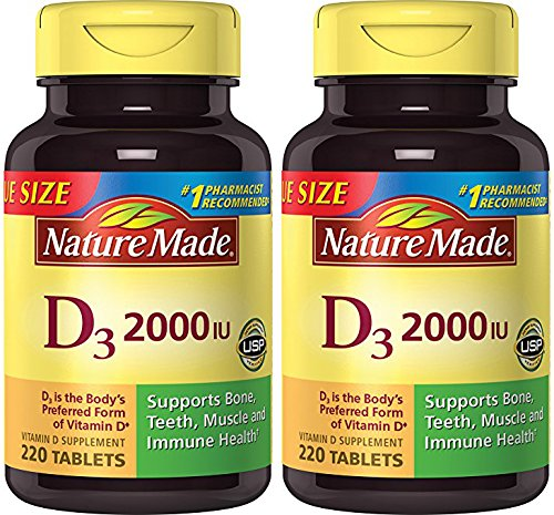Nature Made Vitamin D3 2000 IU, Value Size 2 Pack (220 Each) Ous1F Nature-Gq by Nature Made