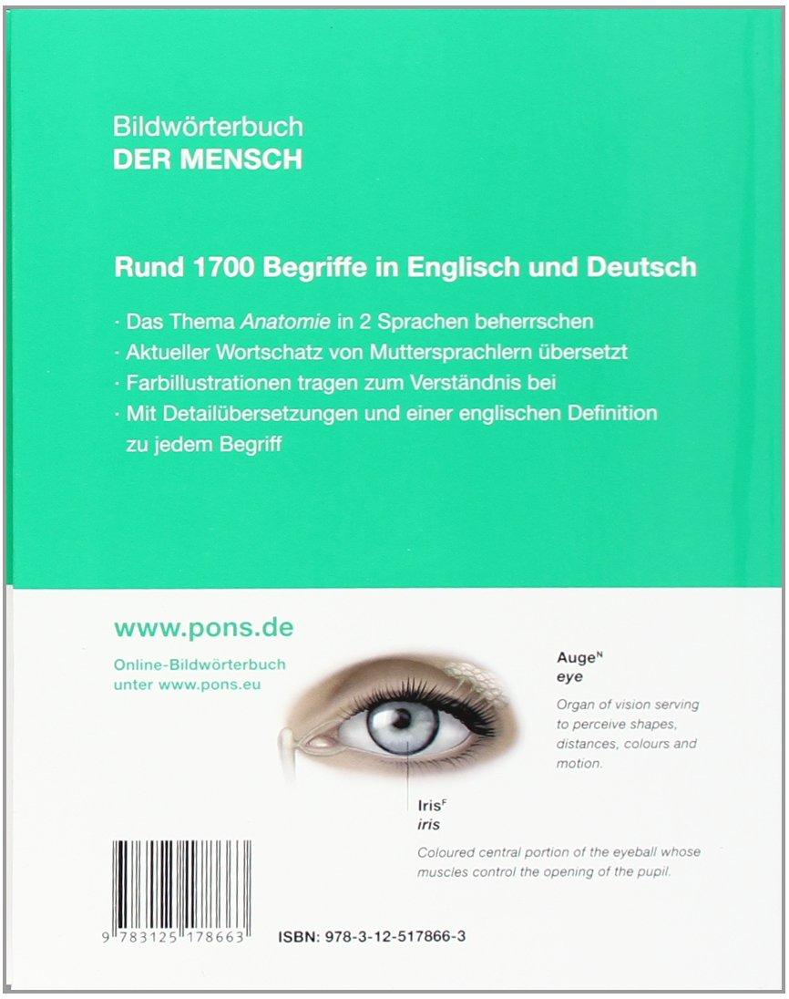 PONS Bildwörterbuch Der Mensch: Rund 1700 Begriffe in Bild und Wort ...
