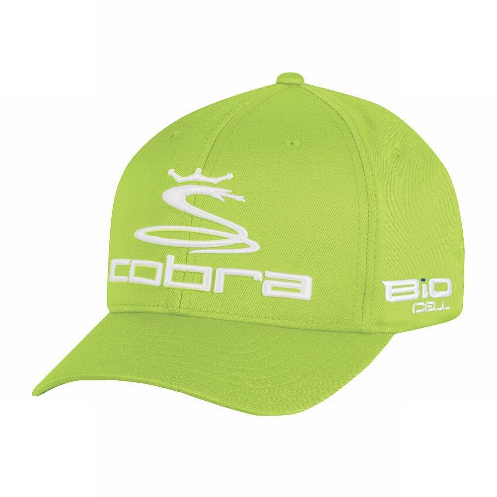 King Cobra Youth Pro Tour Flexfit Cap (Lime Green, JUNIORS) Golf Hat