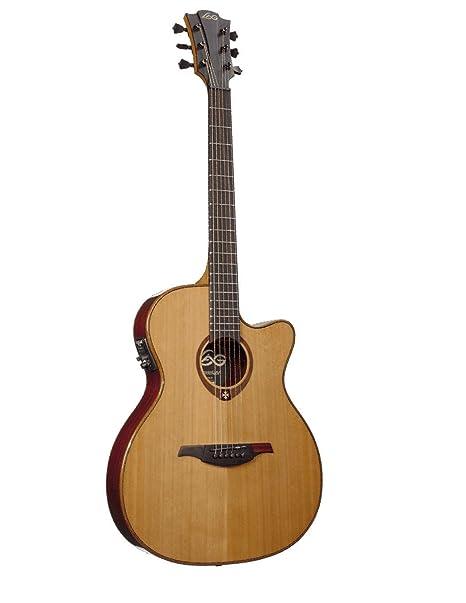 Guitarra electro-acustica lag auditorium (slim lin: Amazon.es ...