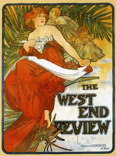Lady Children Reading Book the West End Review By Alphonse Mucha Was a Czech Art Nouveau Painter and Decorative Artist 16