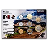 MX 1998 -2009 Mexico 5 Centavo-10 Pesos Coin Set BU (Landscape Pkg) Brilliant Uncirculated
