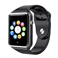 Bluetooth Smart Watches Touchscreen with SIM Card Slot, Smartwatch Compatible with Android phones and IOS Phone Smart Wrist Watch for Men Women Kids (black)