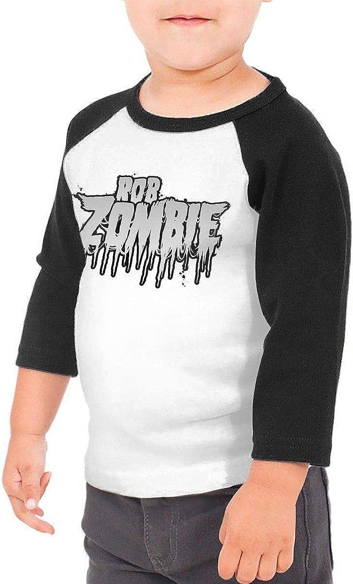 KENMENE Rob Zombie Kids 3//4 Sleeve Raglan Baseball T-Shirt for Girls /& Boys Black
