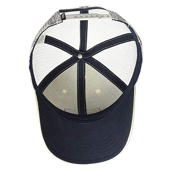 competitive price 7b930 ad531 RVCA Ticket Mid Fit Trucker Snapback Hat Cream Grey Navy at Amazon Men s  Clothing store