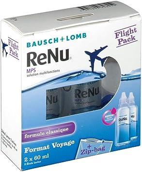 Bausch & Lomb – Renu MPS solución multifunción formato viaje Flight Pack: Amazon.es: Salud y cuidado personal