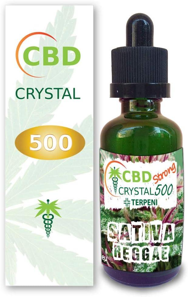 E-liquido Marihuana Cannabis CBD Crystal (sin THC) 500mg Pure CBD > 99% - 30ml - Liquido para Cigarrillo electronico. E-Liquid SIN NICOTINA. Sabor Sativa Sr. Kush