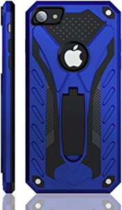 iPhone 7 Case | iPhone 8 Case | iPhone SE 2020 | Military Grade | 12ft. Drop Tested Protective Case | Kickstand | Wireless Charging | Compatible with iPhone 7 / iPhone 8 / iPhone SE 2020 - Blue