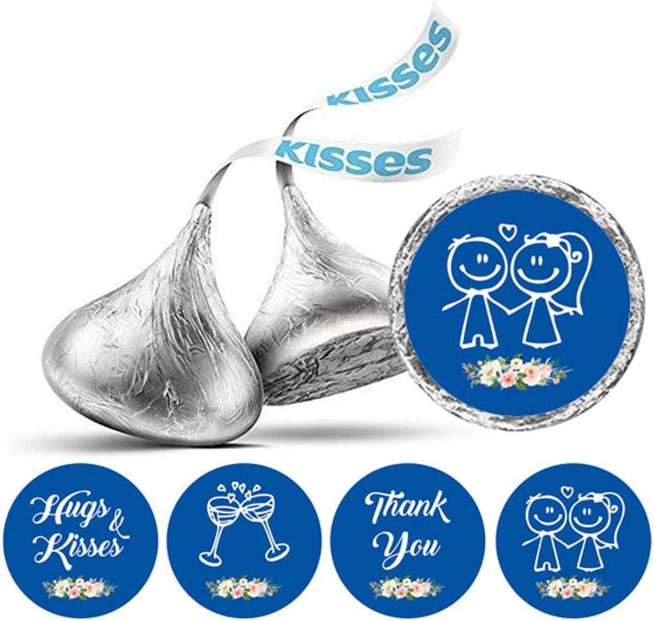 Darling Souvenir Wedding Theme Stickers Hersheys Kisses Candy Labels 190 Pcs Party Favor-Red